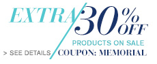 Extra 30% OFF Products ON SALE Coupon: MEMORIAL