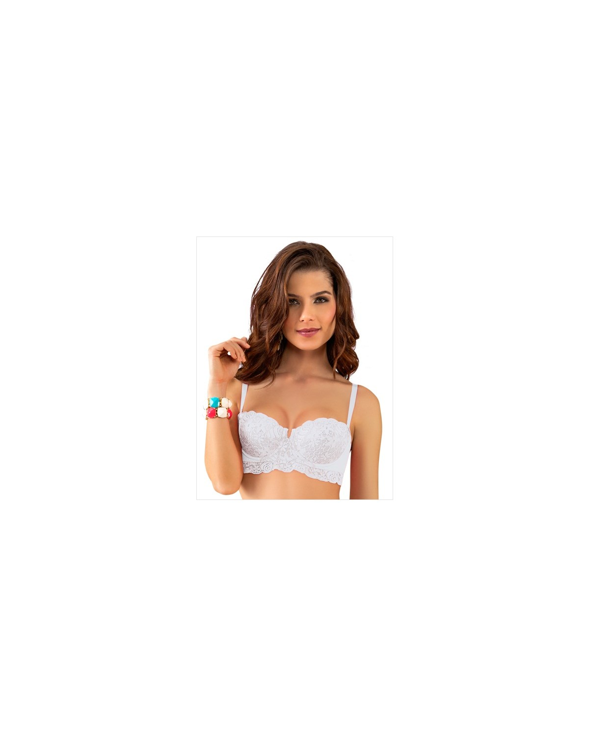 lacey strapless push up bra-000- White-MainImage