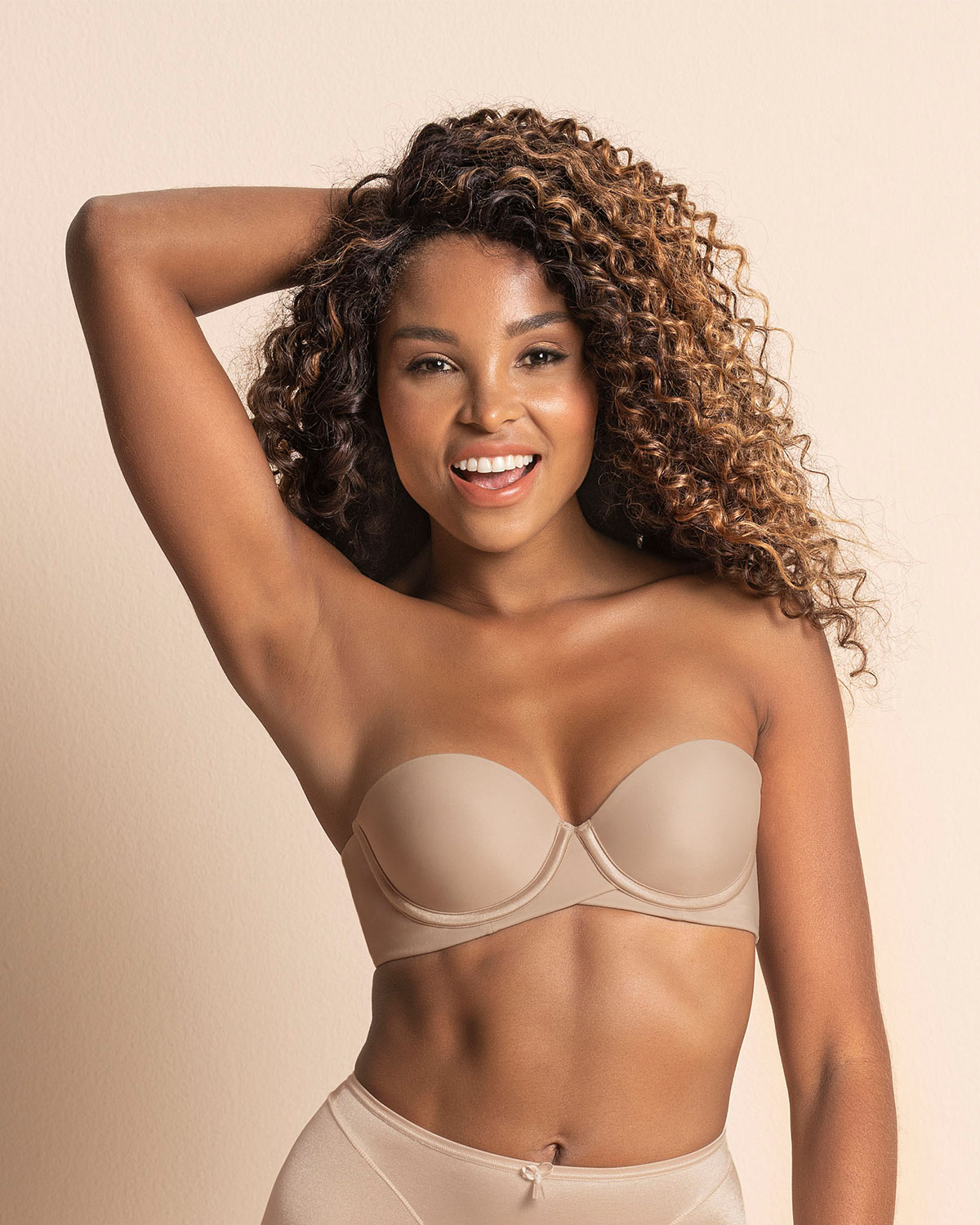 extreme push up strapless bra - add 2 sizes-802- Nude-MainImage