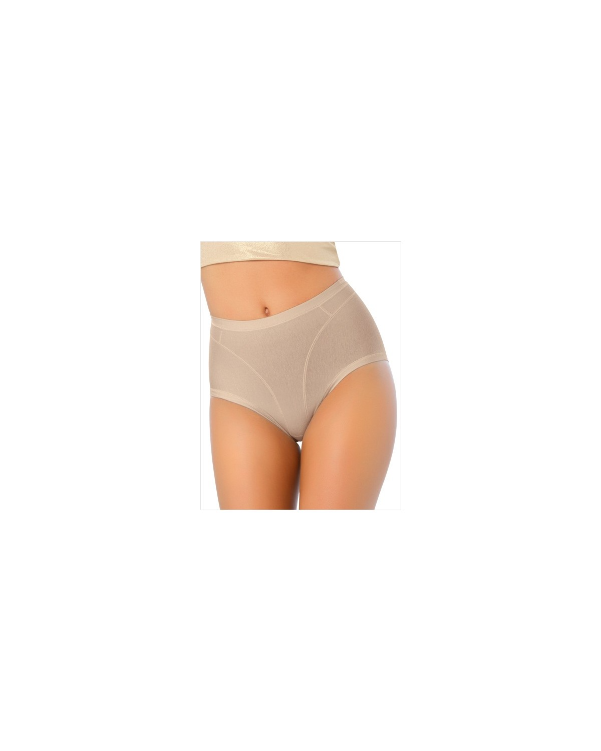 high cut panty shaper in cotton-802- Nude-MainImage