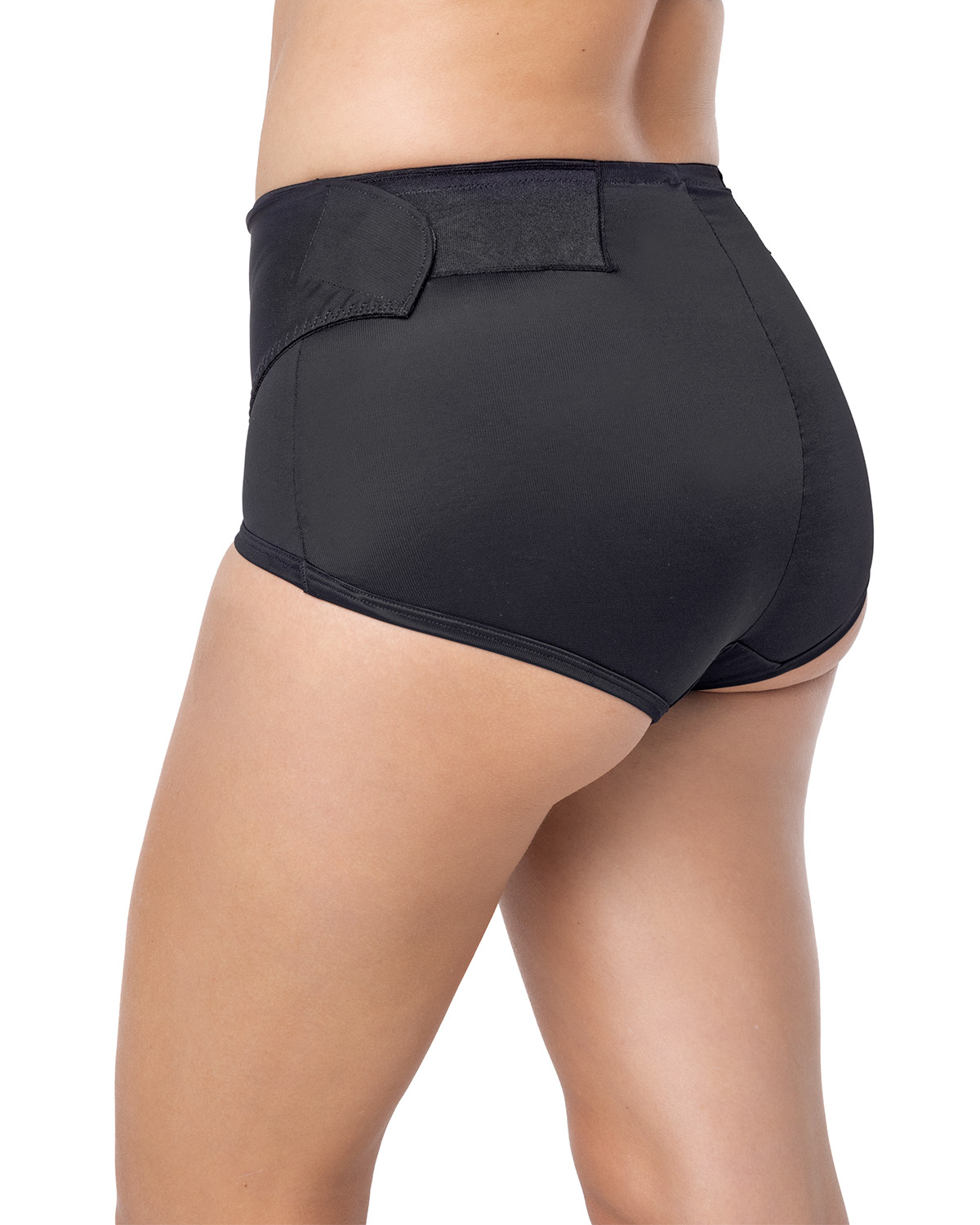 postpartum panty with adjustable belly wrap-700- Black-MainImage