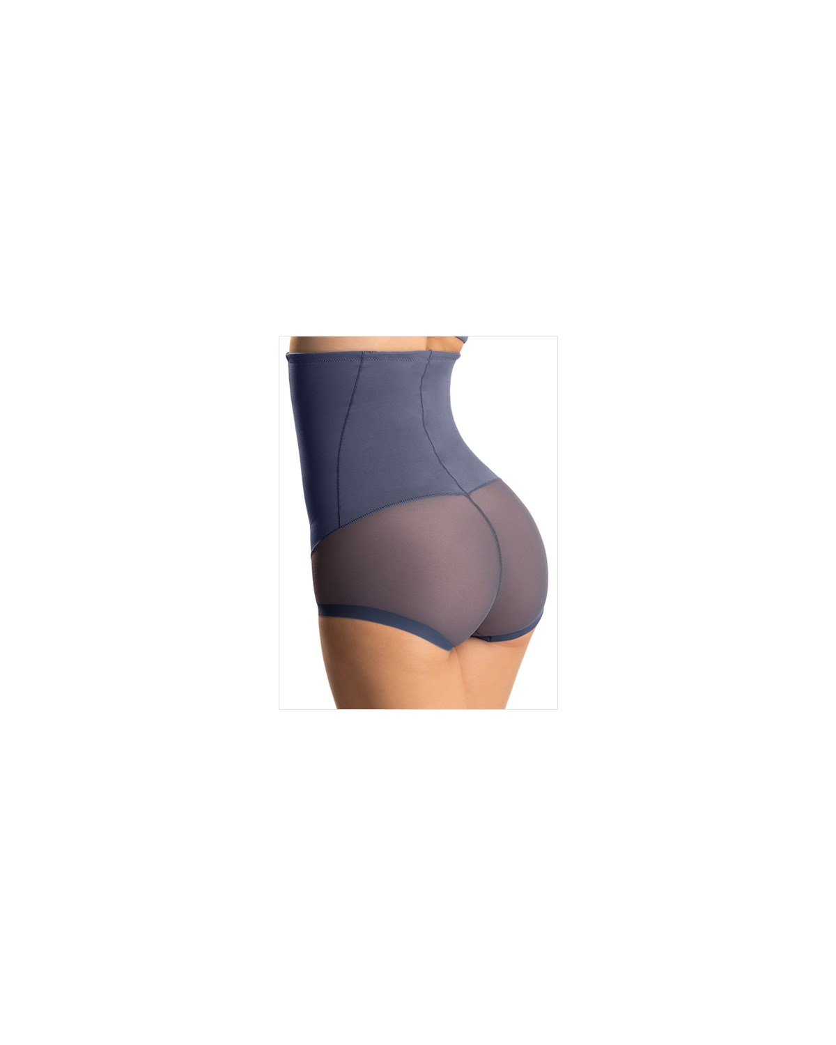 high waist bodysuit tummy shaper-543- Blue-MainImage