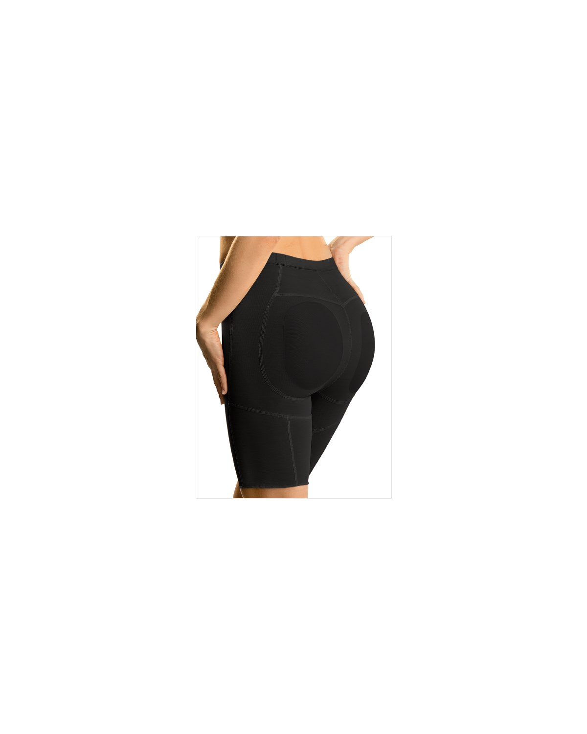 thigh slimming shaper short with butt lifter-700- Black-MainImage