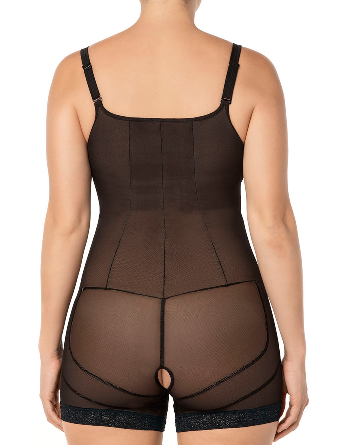 8cf2fde9779fa Lace Bodysuit Shaper Short with Booty Lifter | Leonisa