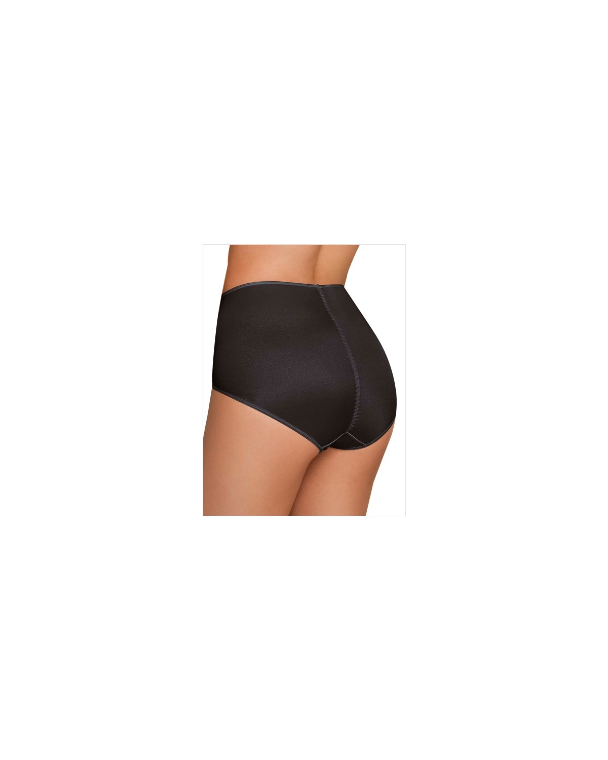 high cut firm control panty-700- Black-MainImage