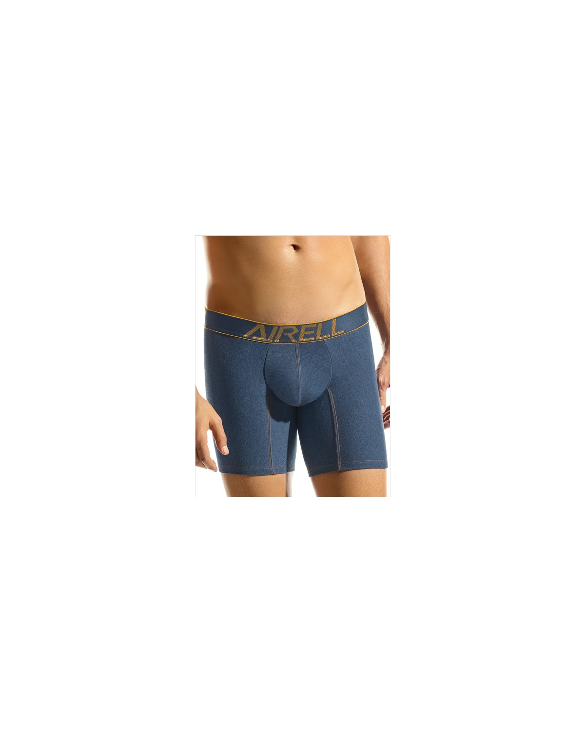 leo high performance cotton boxer brief-546- Blue Denim-MainImage