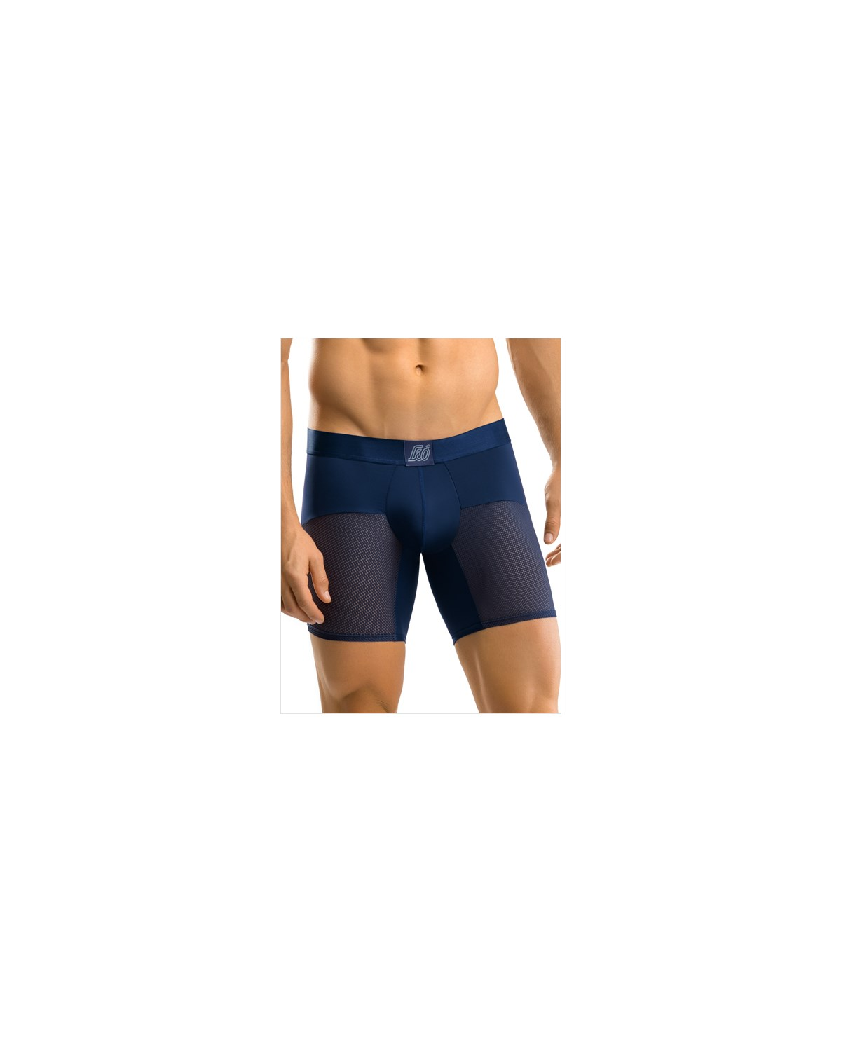 leo advanced mesh long boxer brief-509- Dark Blue-MainImage