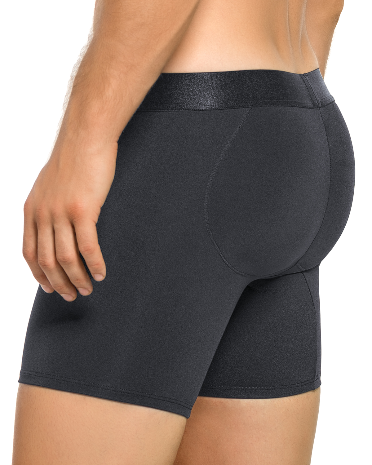 leo mens padded butt enhancer boxer brief-700- Black-MainImage