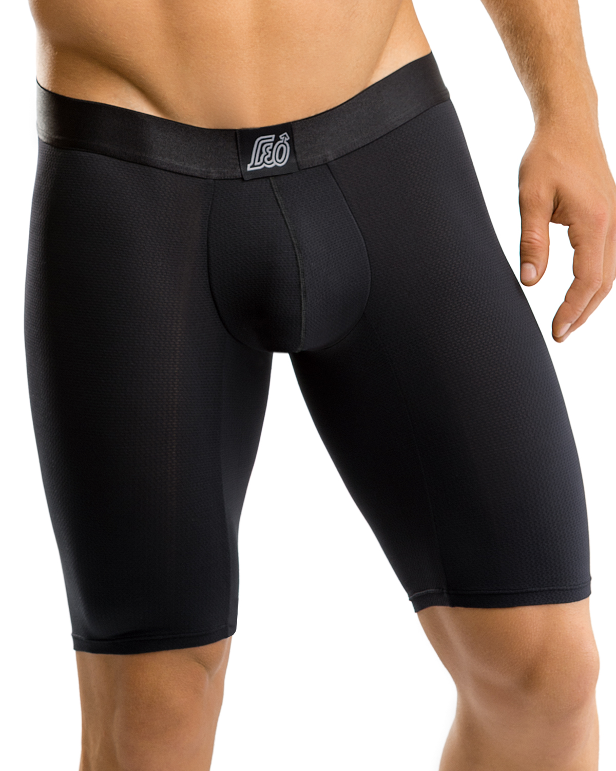 leo advanced fit long boxer brief-700- Black-MainImage