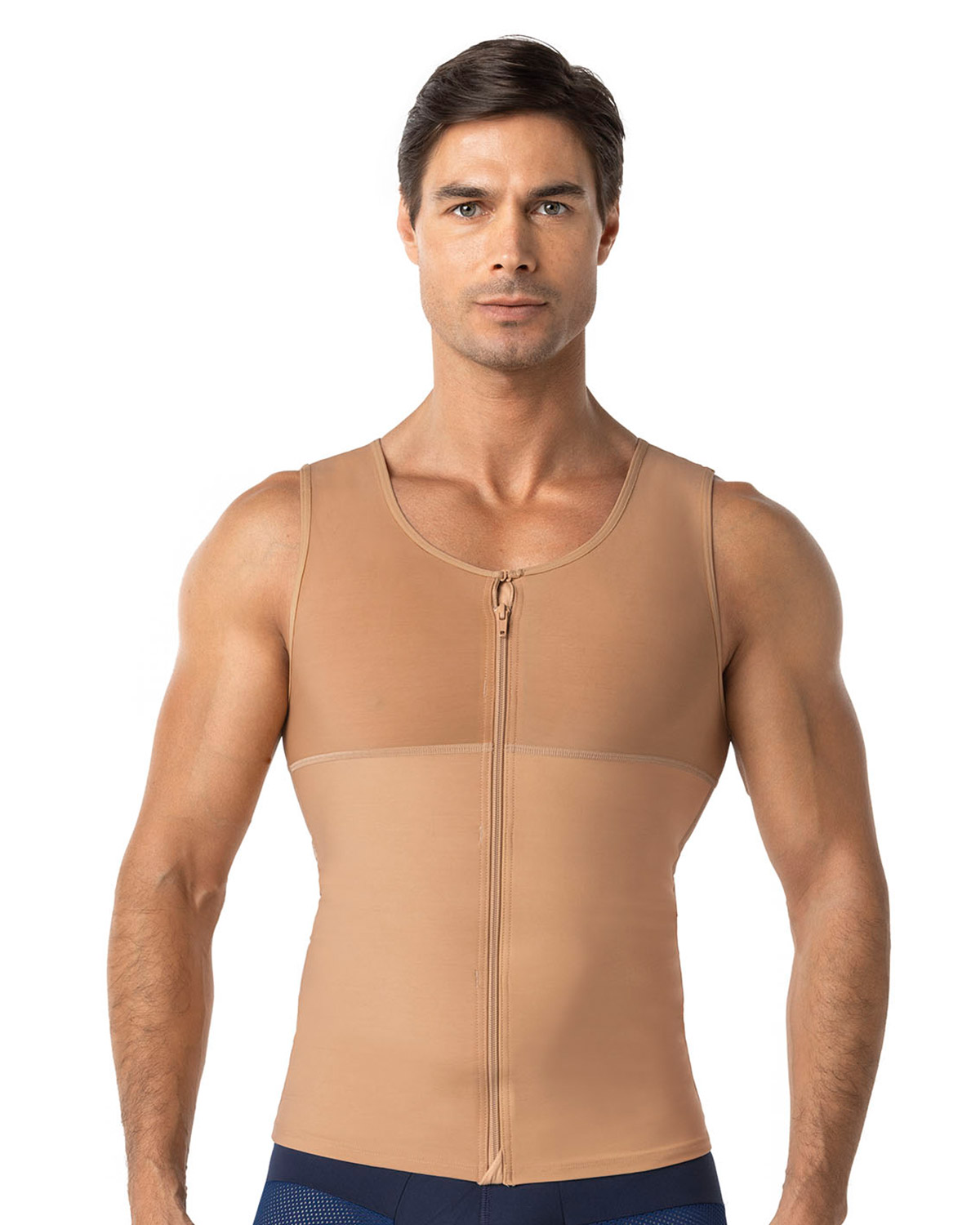 mens abs slimming body shaper with back support--MainImage