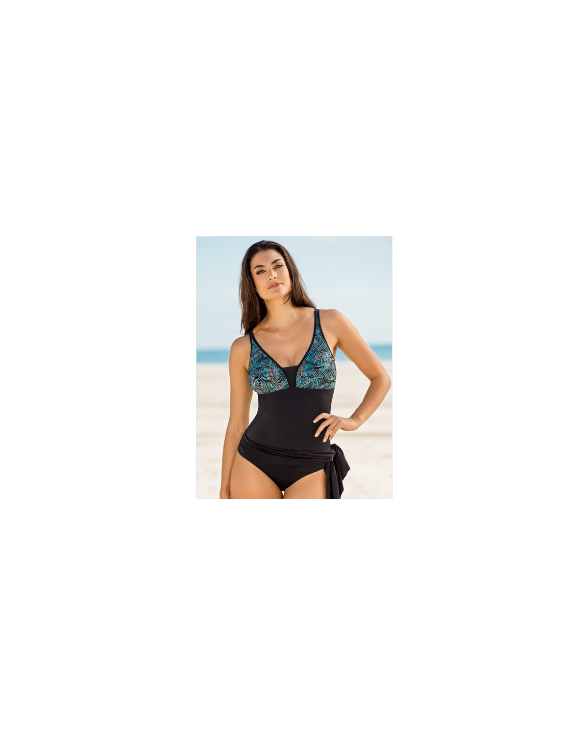 flattering firm control multiway skirt one piece swimwear--MainImage