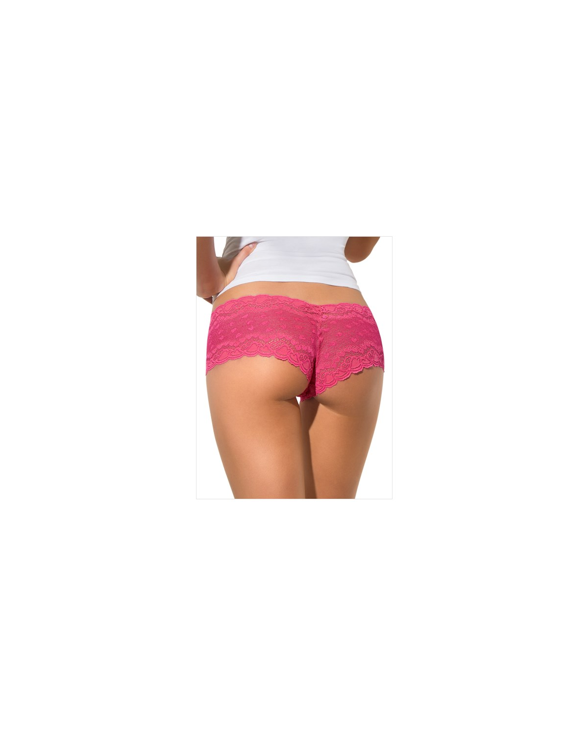 hiphugger style panty in modern lace-373- Pink-MainImage