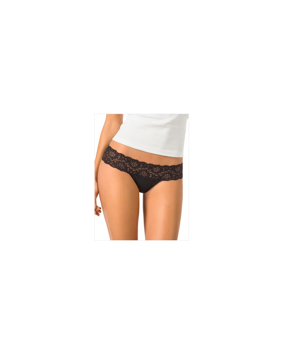 low rise thong in delicate lace-700- Black-MainImage