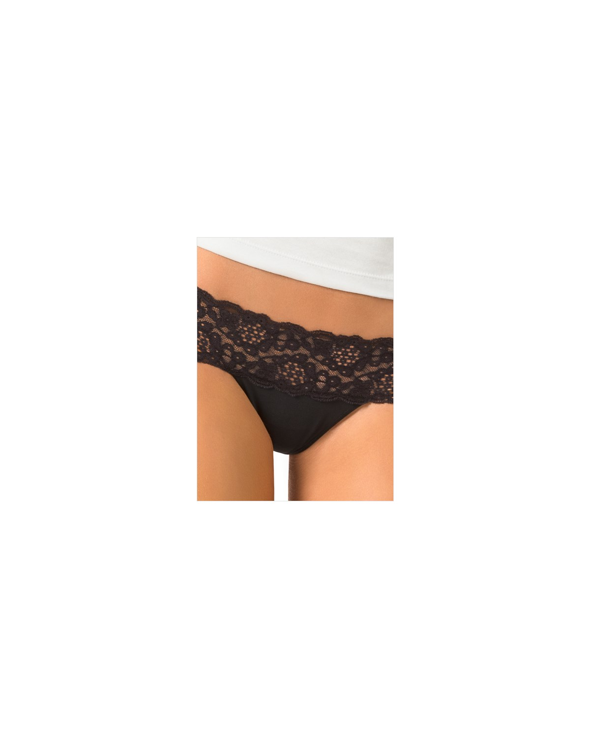 low rise thong in delicate lace-700- Black-AlternateView1