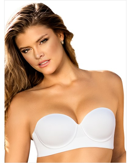 slimming strapless push up bra-000- White-MainImage
