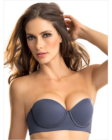 slimming strapless push up bra-589- Blue-MainImage