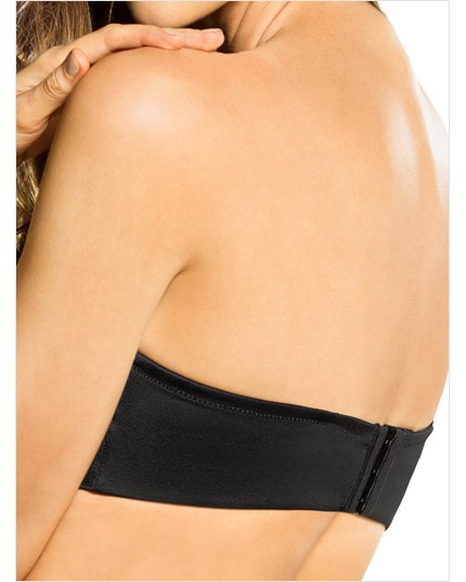 slimming strapless push up bra-700- Black-MainImage