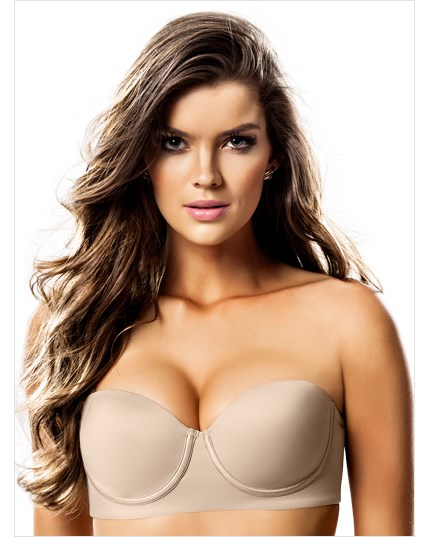 slimming strapless push up bra-802- Nude-MainImage