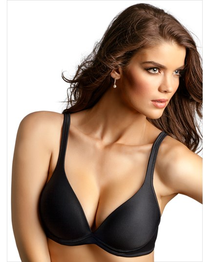 wide straps support push-up bra-700- Black-MainImage