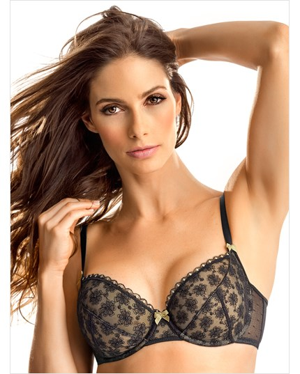 contouring lace demi bra--MainImage