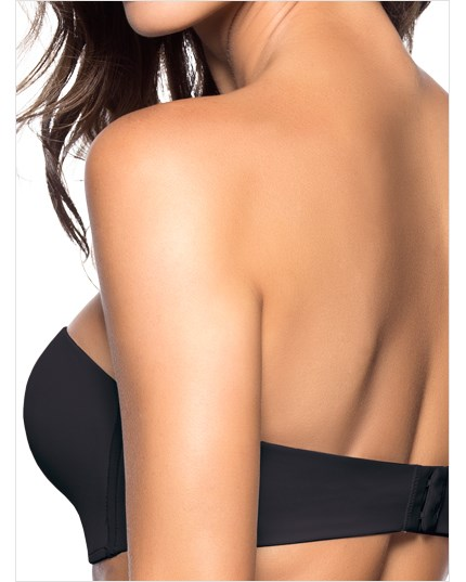 extreme push up strapless bra-700- Black-MainImage
