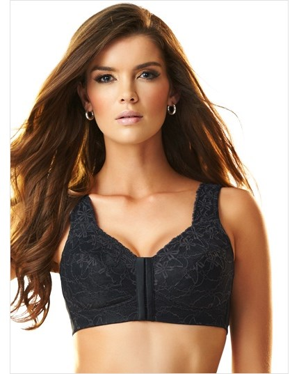 fabulous lace wireless minimizer bra-700- Black-MainImage