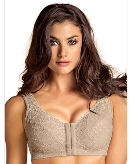 fabulous lace wireless minimizer bra--MainImage