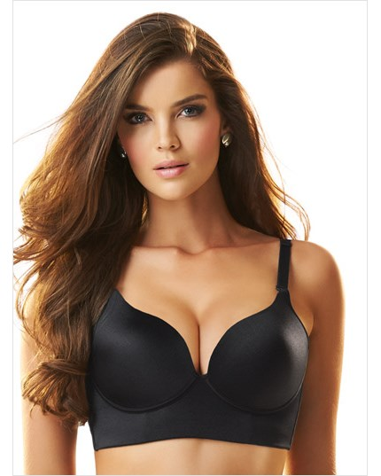 deep plunge wireless push up bra-700- Black-MainImage