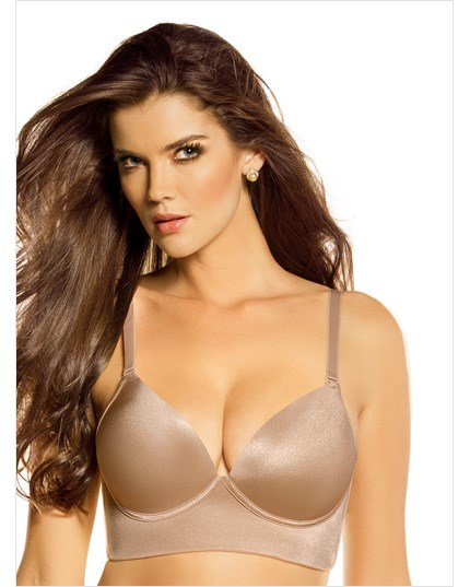 Padded Plunge Push up Bra Deep Plunge Wireless Push up