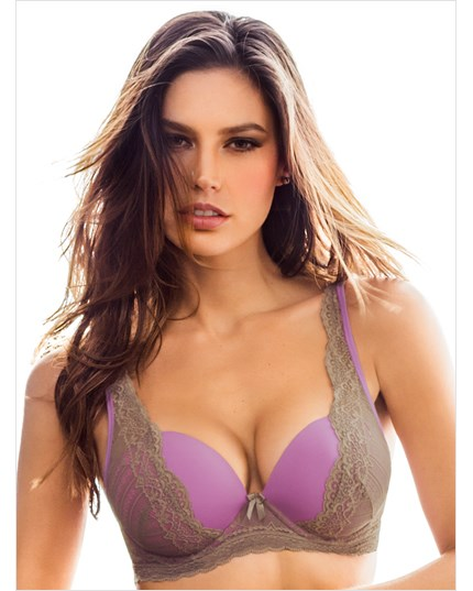 perfect push up sensual lace bra-378- Orchid/Natural-MainImage