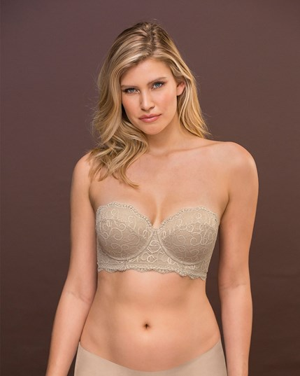lace balconet push up bra-802- Nude-MainImage