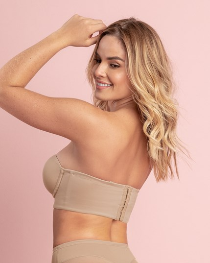 strapless long line push-up bra--MainImage