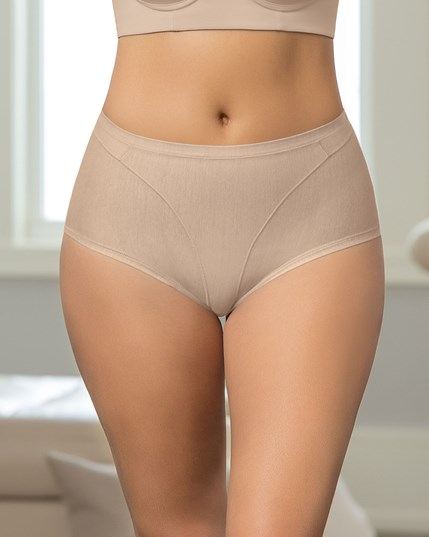 high cut panty shaper in cotton--MainImage