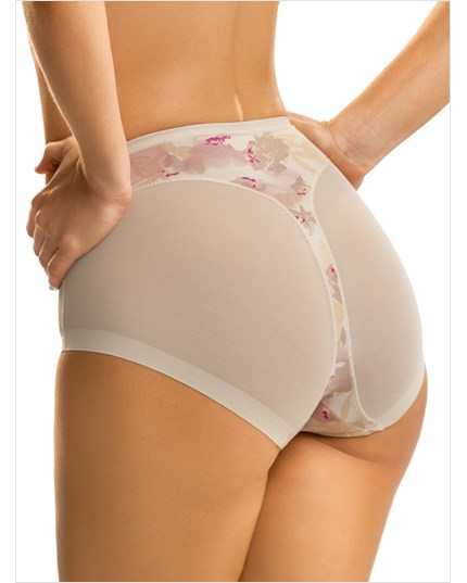 super comfy control shapewear panty-167- Flower/Nude-MainImage