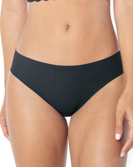 no-ride-up seamless bikini panty-785- Black-MainImage