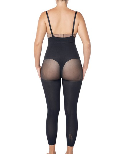 invisible body shaper with leg compression and butt lifter-700- Black-MainImage