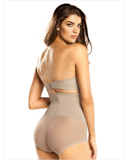 high waist bodysuit tummy shaper-802- Nude-MainImage