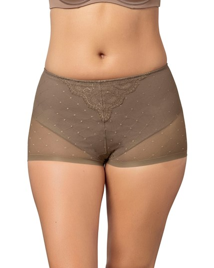 vintage interlace control short panty-087- Brown-MainImage