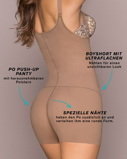 schlankmachender body-shaper mit herausnehmbaren po push-up polstern--MainImage