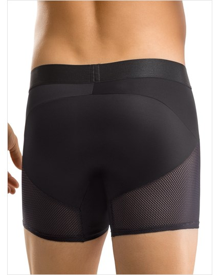 leo advanced mesh long boxer brief-700- Black-MainImage