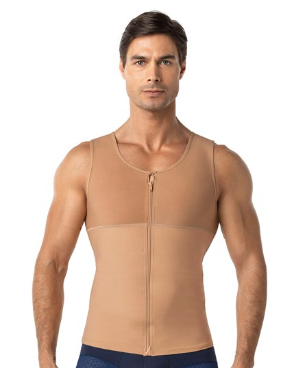 mens abs slimming body shaper with back support-864- Nude-MainImage