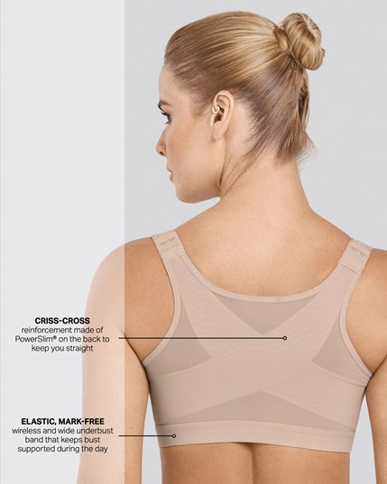 doctor recommended post-surgical wireless bra with front closure--MainImage