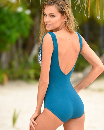 one-piece swimsuit with tummy compression--MainImage
