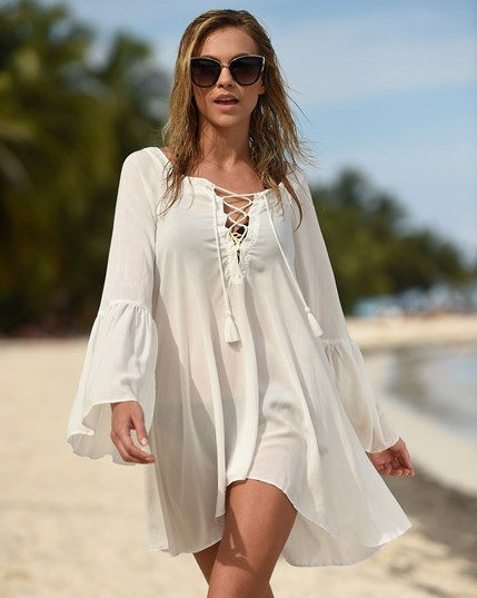 lace-up beach dress--MainImage