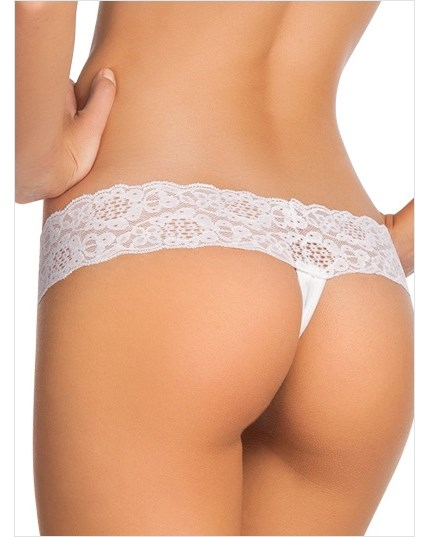 low rise thong in delicate lace-000- White-MainImage
