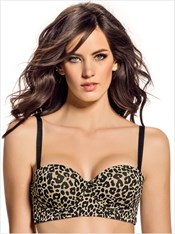 Shape and Support Strapless Push-Up Bra