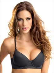 Invisible High Push Up Bra with Memory Form