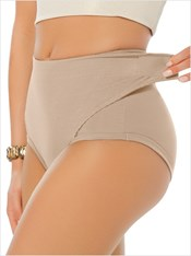 Postpartum Panty with Adjustable Belly Wrap