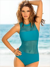 Trendy Mesh One-Piece Bathing Suit