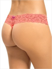 Low Rise Thong in Delicate Lace